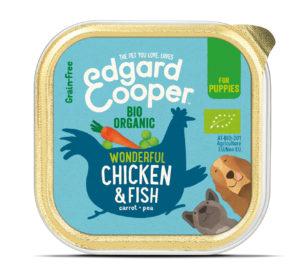 Edgard & Cooper hond kuipje kip pup organische box