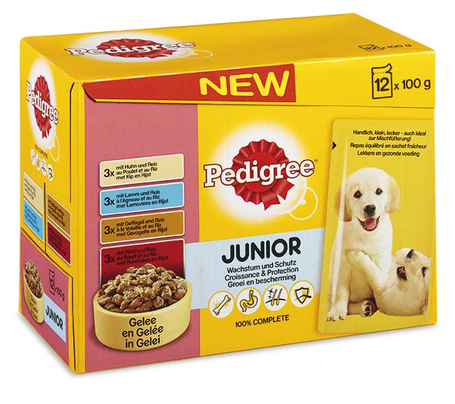 .Pedigree pouch 12-pack junior.