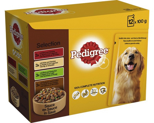.Pedigree pouch 12-pack adult select.