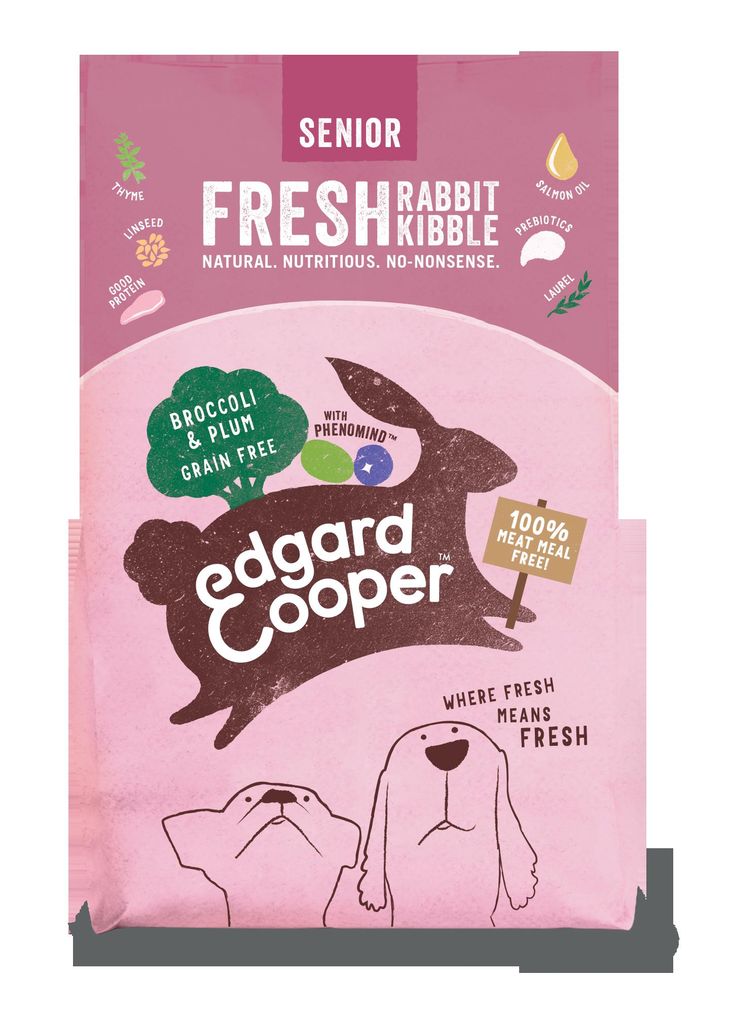 Edgard & Cooper hond brok sen konijn/pruim/broc