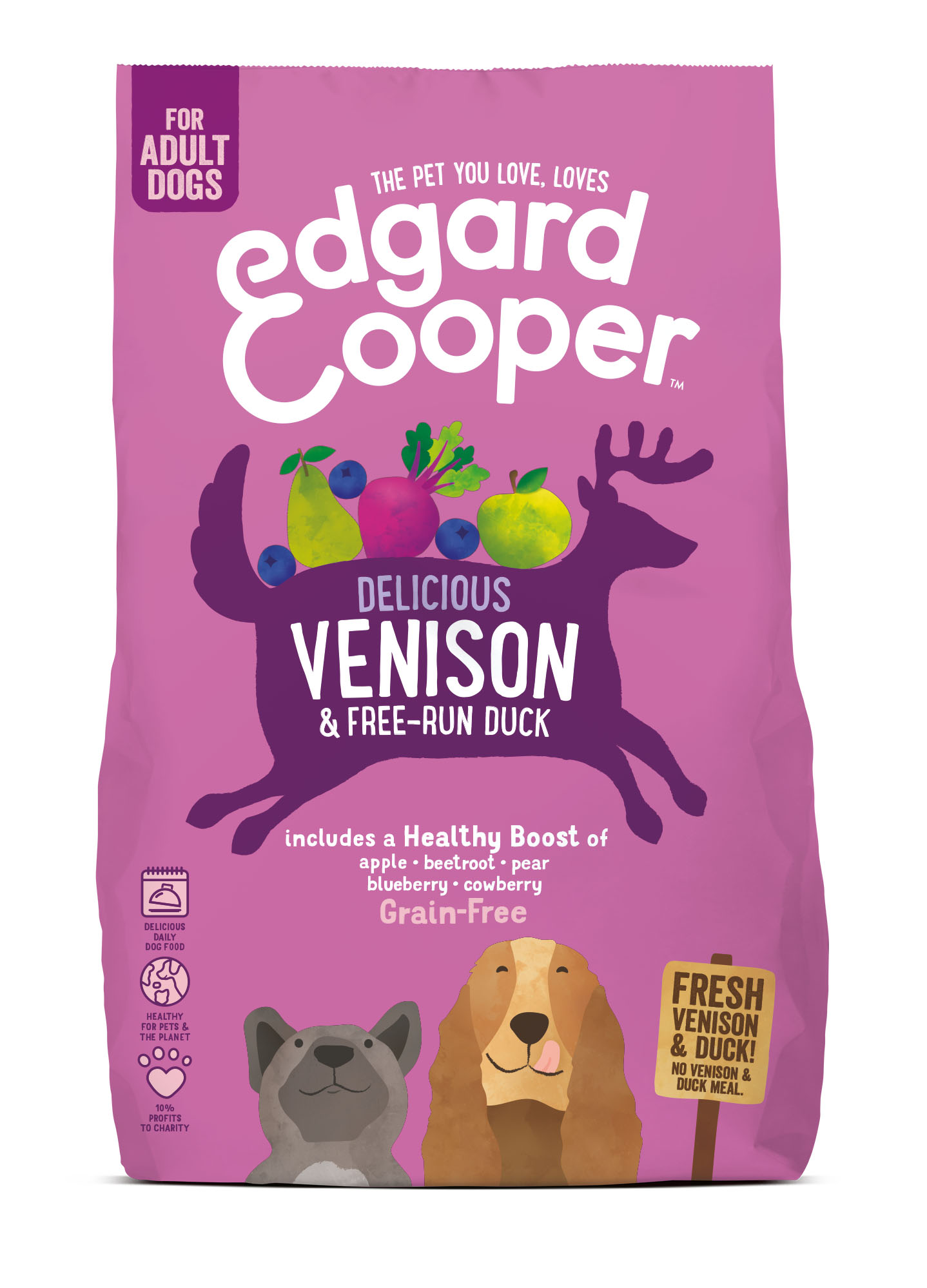 .Edgard & Cooper hond brok hert.