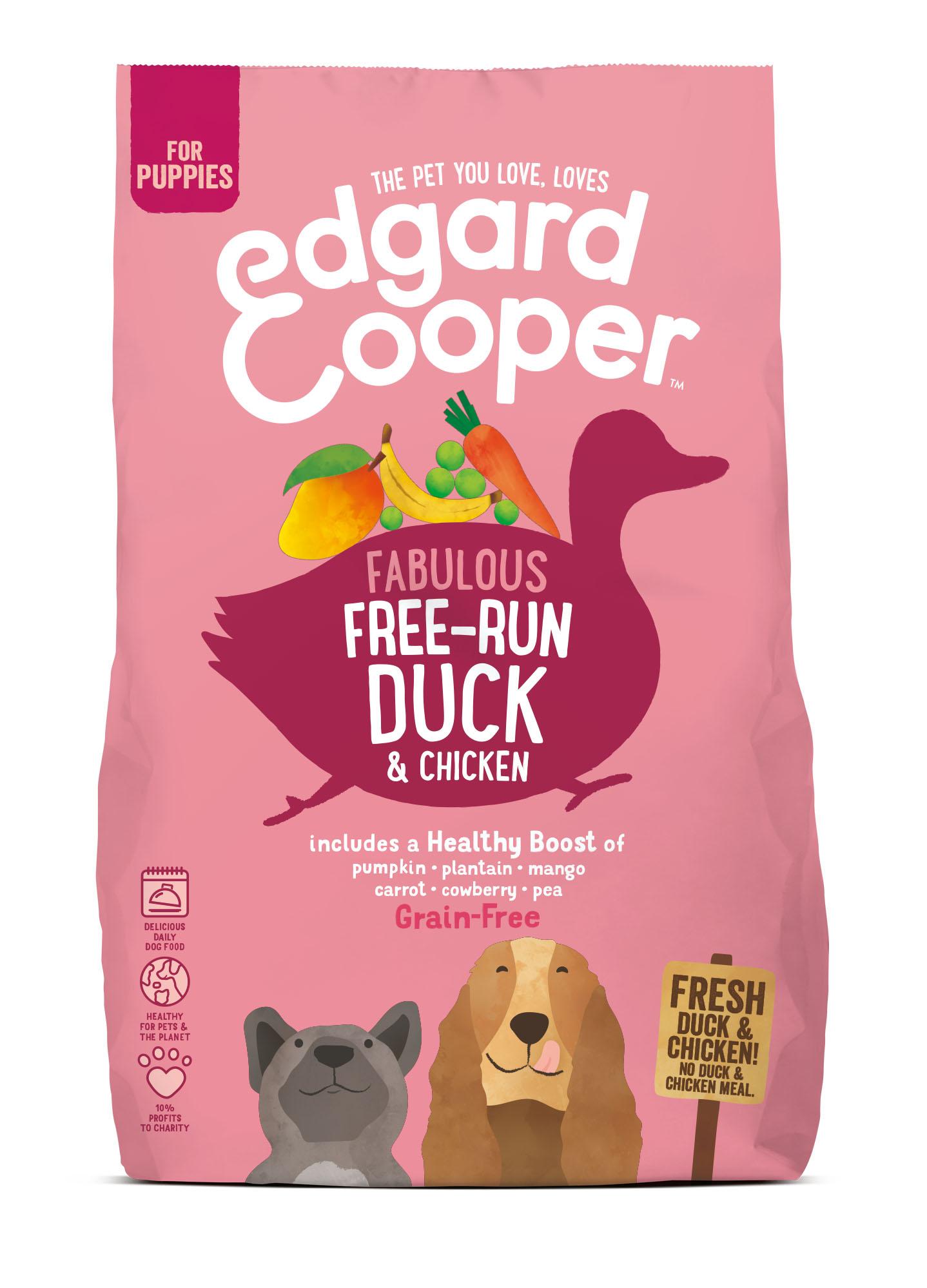 .Edgard & Cooper hond brok pup eend.