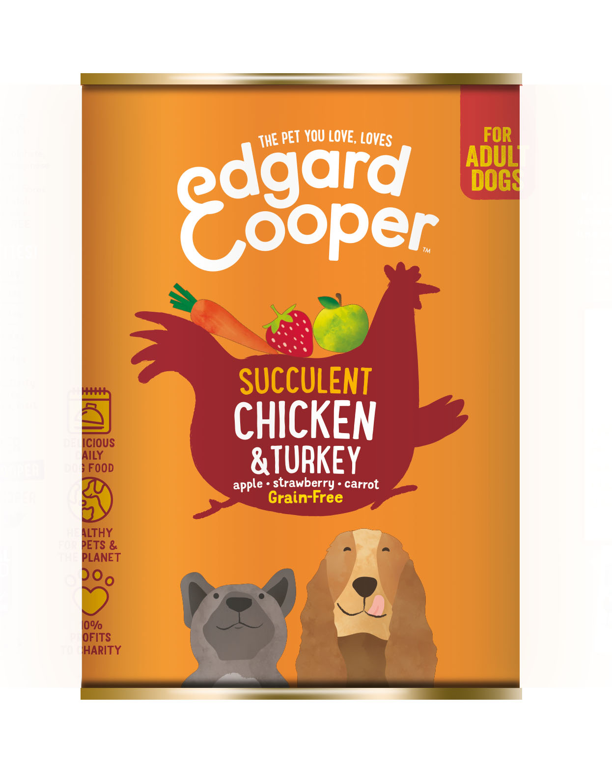.Edgard & Cooper hond blik kip.
