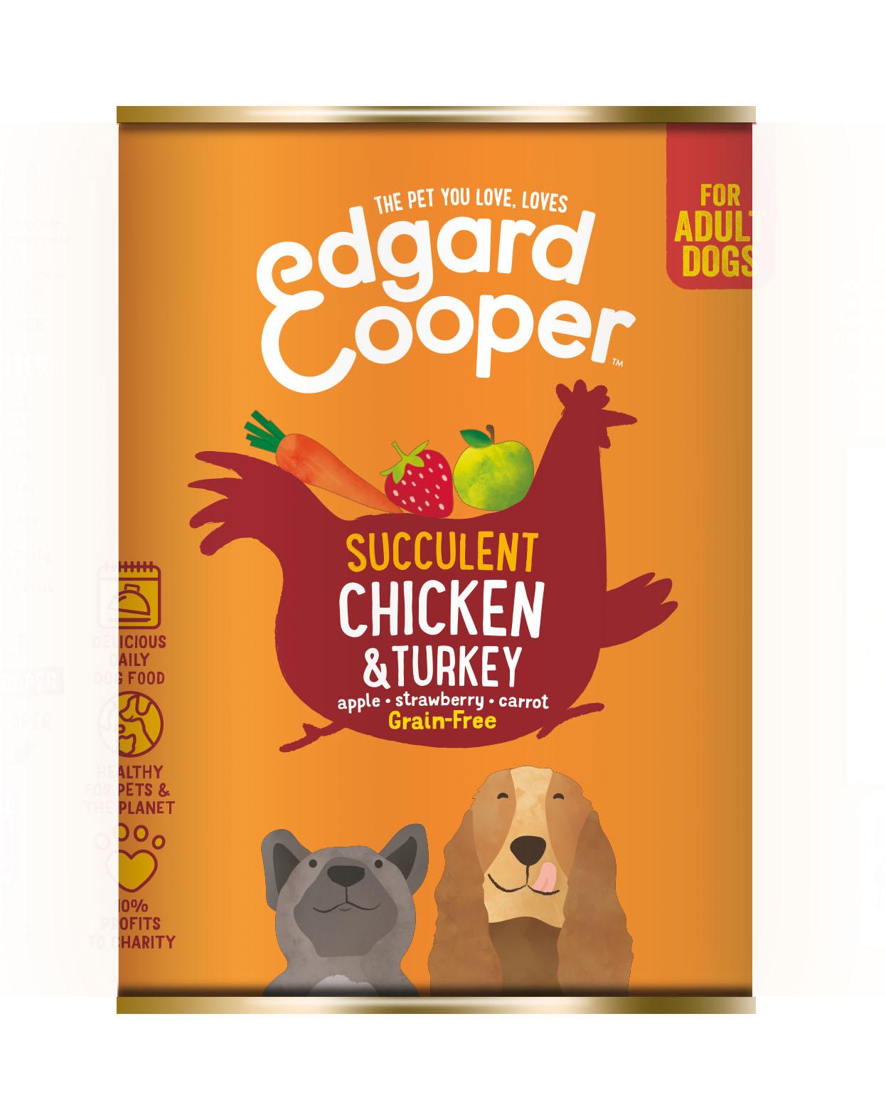 Edgard & Cooper hond blik kip