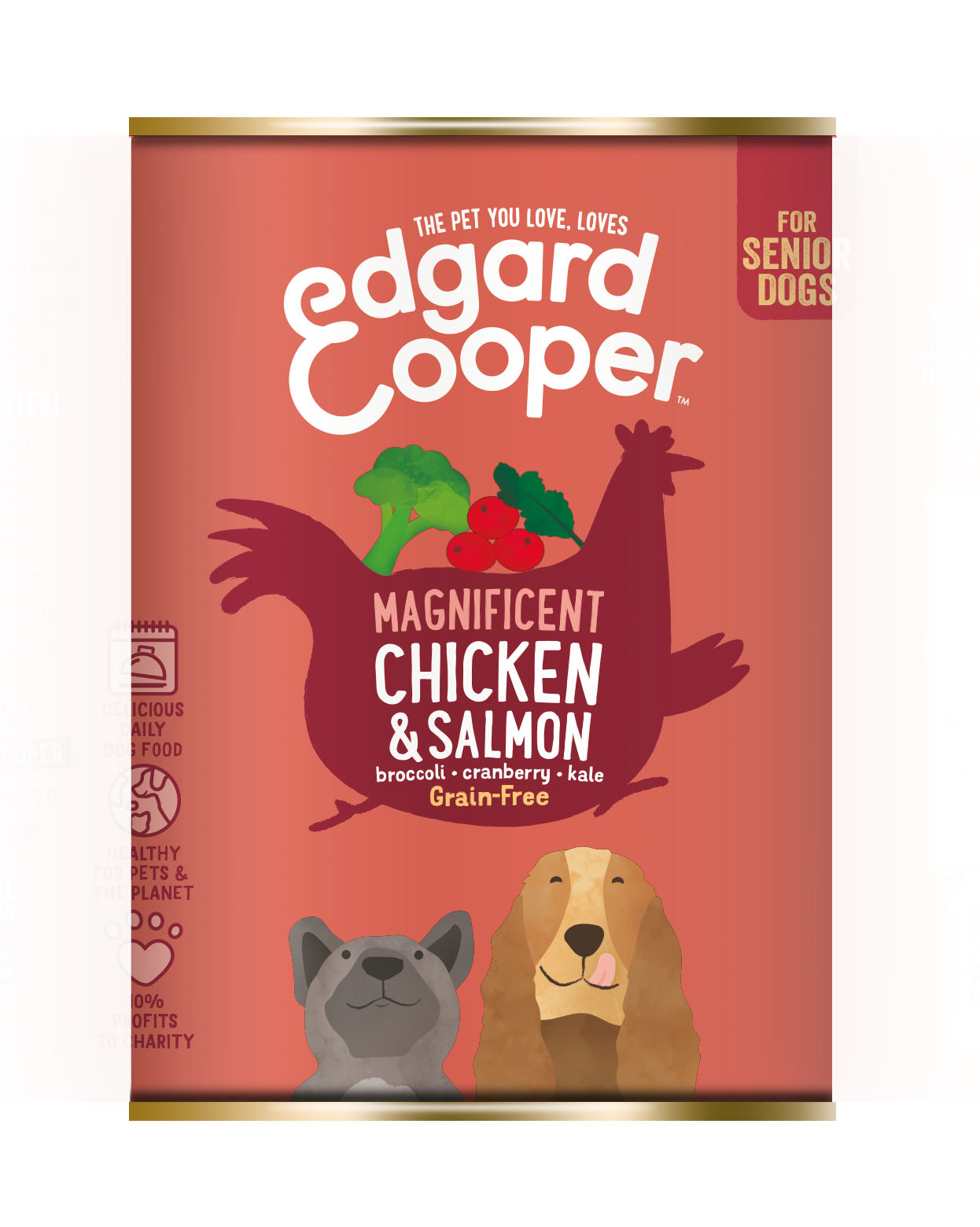Edgard & Cooper hond blik senior kip/zalm
