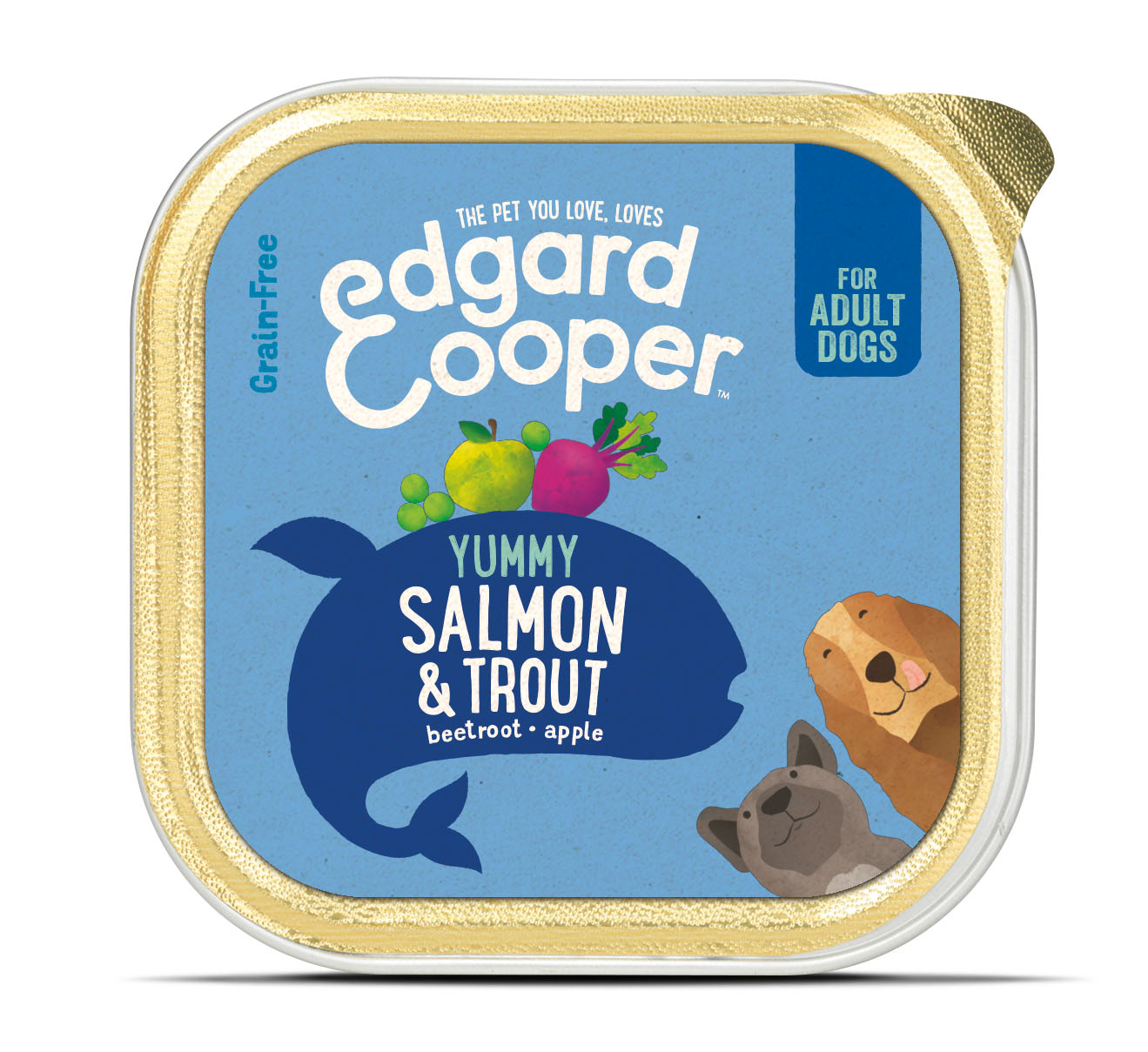 .Edgard & Cooper hond kuipje zalm box.