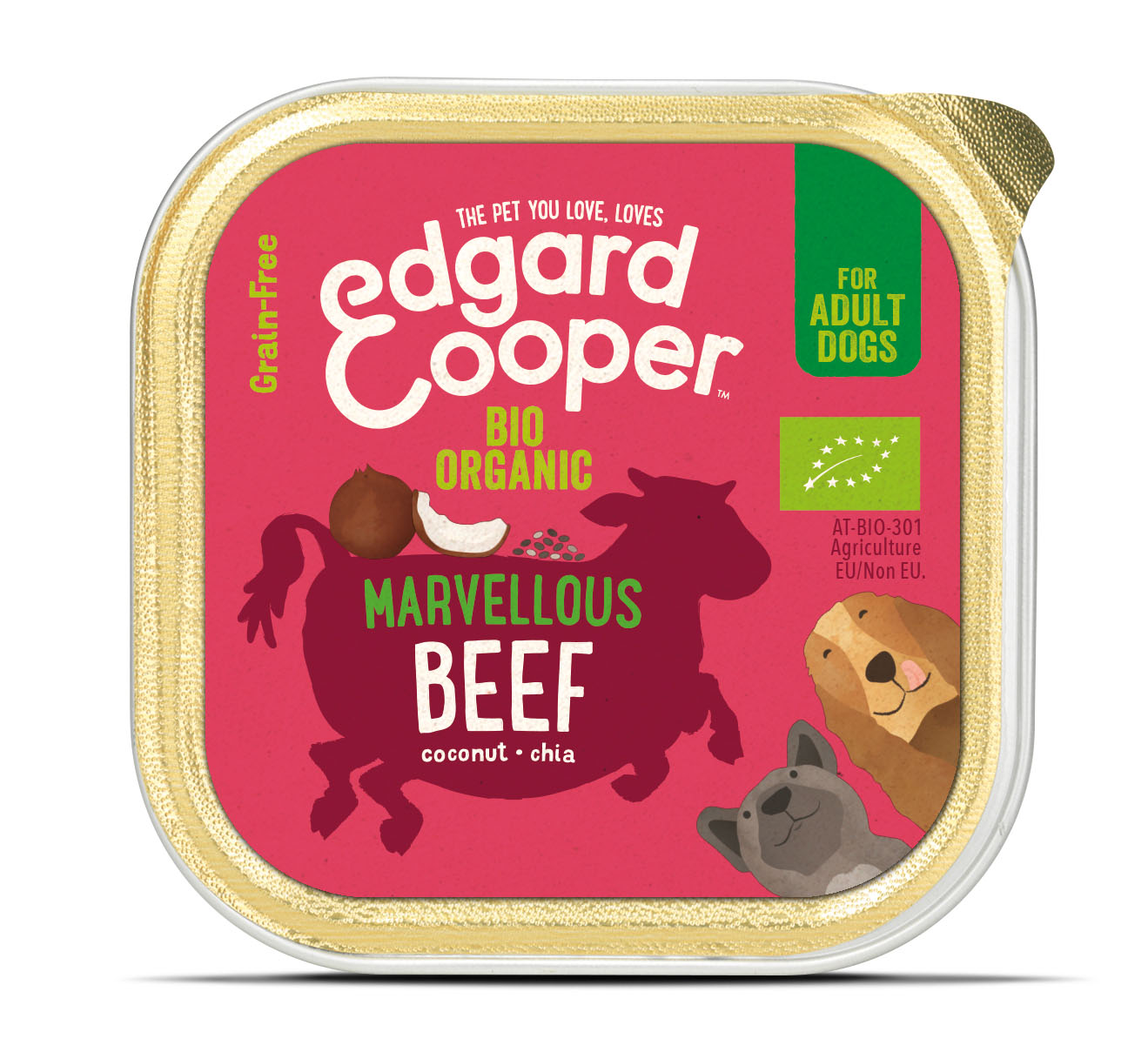 .Edgard & Cooper hond kuipje rund organische box.