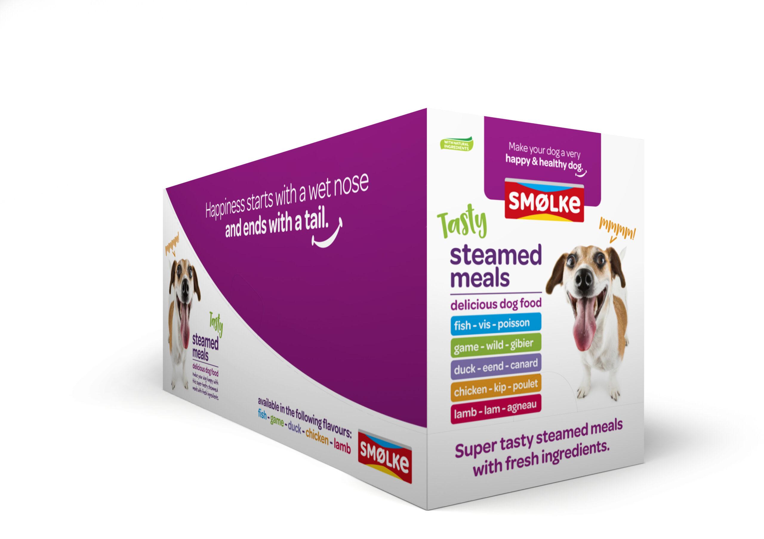 .Smolke hond vers gestoomd 10-pack mix.