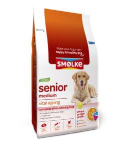 Smolke hond senior medium