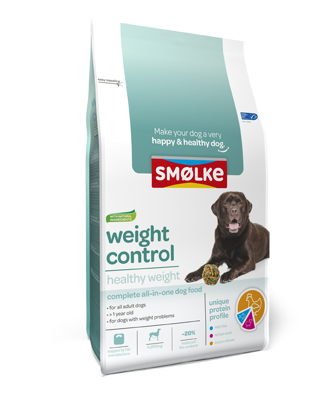 .Smolke hond weight control.