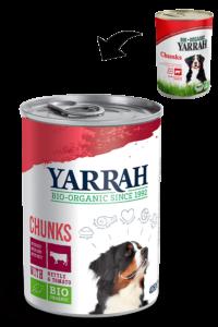 Yarrah dog blik brokjes saus rund