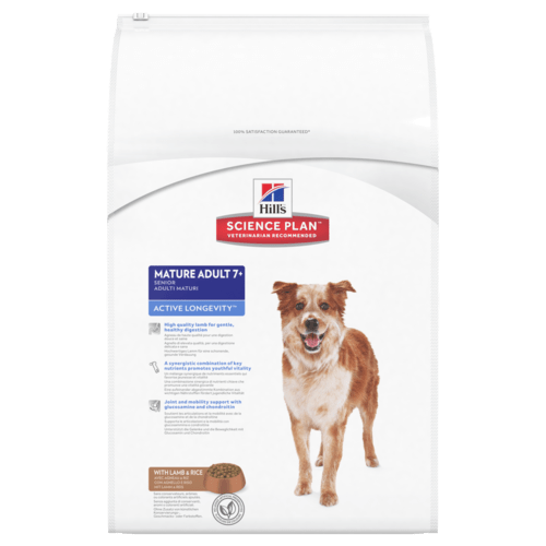 .Hill's canine mature adult medium lam & rice.