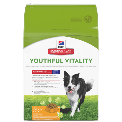 Hill's canine adult youthful vitality 7+ medium