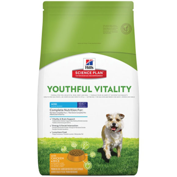Hill's canine adult youthful vitality 7+ mini