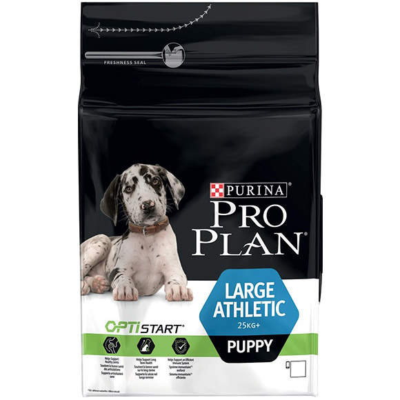 .Pro Plan large athletic puppy.
