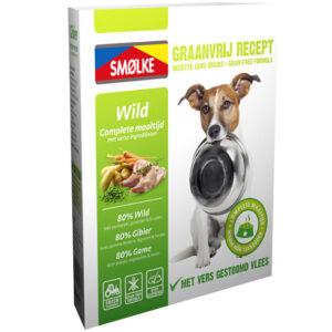 Smolke hond vers gestoomd wild graanvrij