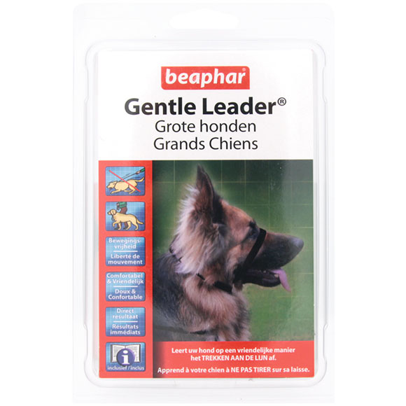 .Beaphar Gentle leader large zwart.