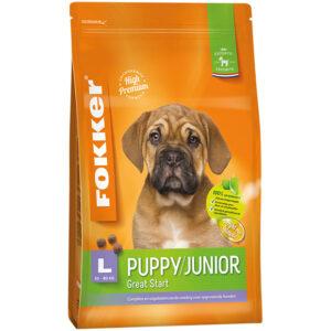 Fokker hond puppy/junior large (30-80kg)