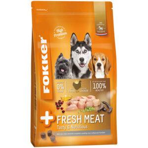 Fokker hond + fresh meat graanvrij kip