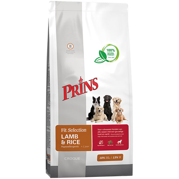 .Prins Fit Selection hond lam&rijst.