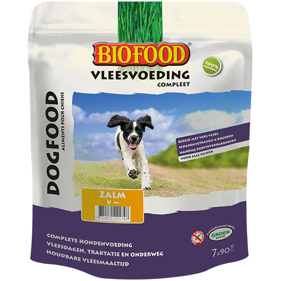 Biofood vleesvoeding compleet zalm