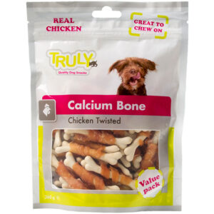 Truly dog calcium bone chicken twisted value pack